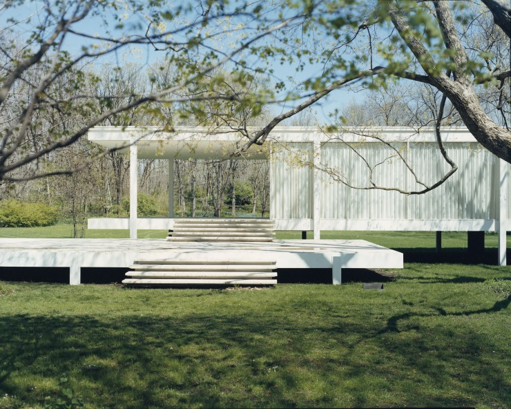 Guido Guidi,Farnsworth House, Illinois 2000, stampa a contatto, cm 20x25, © Guido Guidi, courtesy Viasaterna