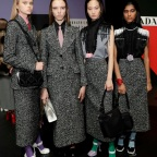 MILAN, ITALY - FEBRUARY 20: Models are seen backstage at the Prada fashion show on February 20, 2020 in Milan, Italy. (Photo by John Phillips/WireImage)