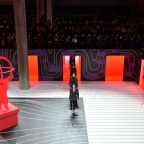 MILAN, ITALY - FEBRUARY 20: Models walk the runway during the Prada fashion show as part of Milan Fashion Week Fall/Winter 2020-2021 on February 20, 2020 in Milan, Italy. (Photo by Tullio M. Puglia/Getty Images)